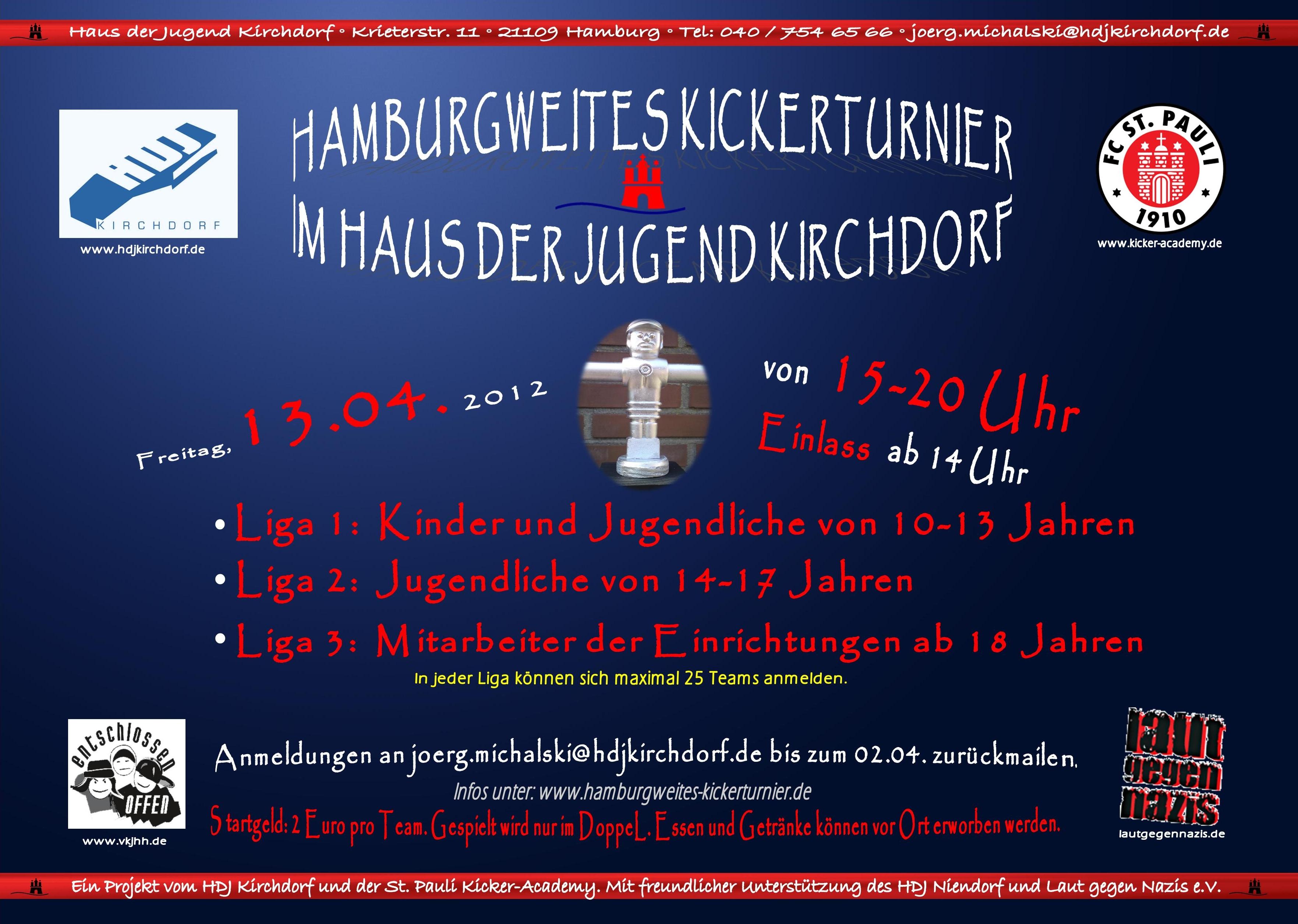 Plakat Kickerturnier 2012