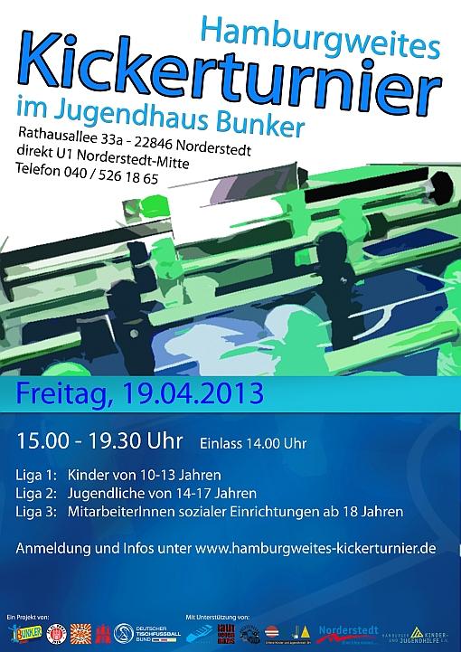 Kickerturnier 2013 Plakat