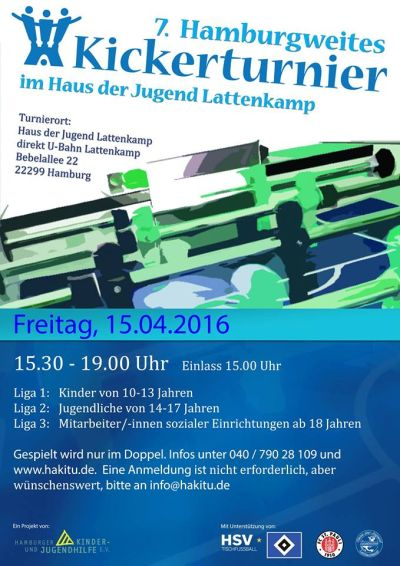 Plakat Hamburgweites Kickerturnier 2016